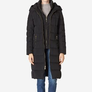 Cole Haan Long Black Down Parka SZ L NWT